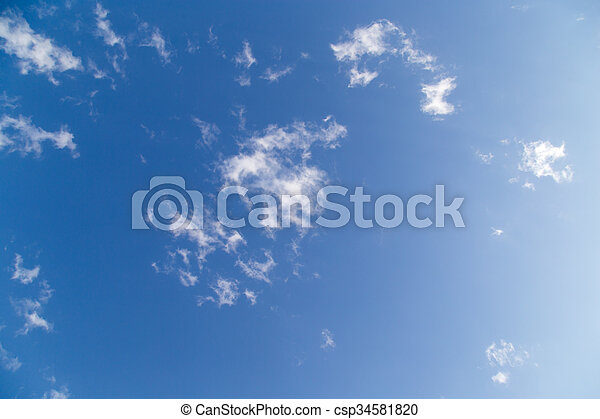 schöne , blaues, wolkenhimmel, himmelsgewölbe - csp34581820