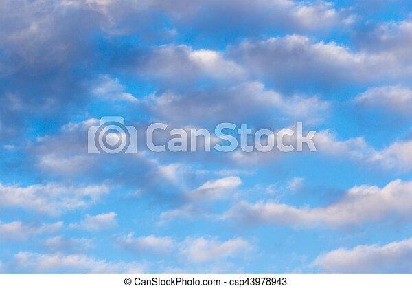 schöne , blaues, wolkenhimmel, himmelsgewölbe - csp43978943