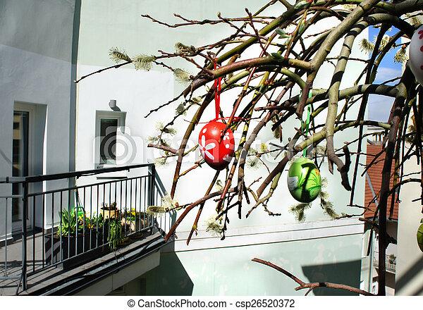 Schone Dekoration Modern Ostern Terrasse Schone Eier