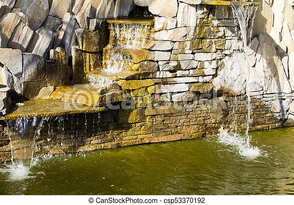 Schone Dekorativ Steingarten Wasserfall Teich
