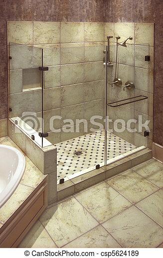 Schone Dusche Wunderschone Grosse Fliesendusche Mit