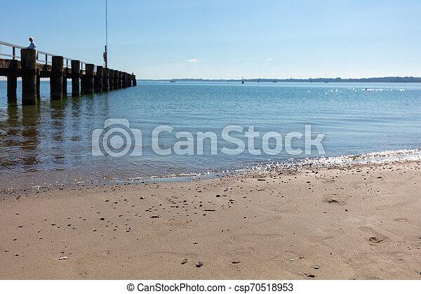 schöne , foto, wetter, sandstrand - csp70518953