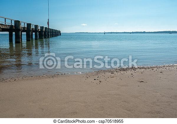 schöne , foto, wetter, sandstrand - csp70518955