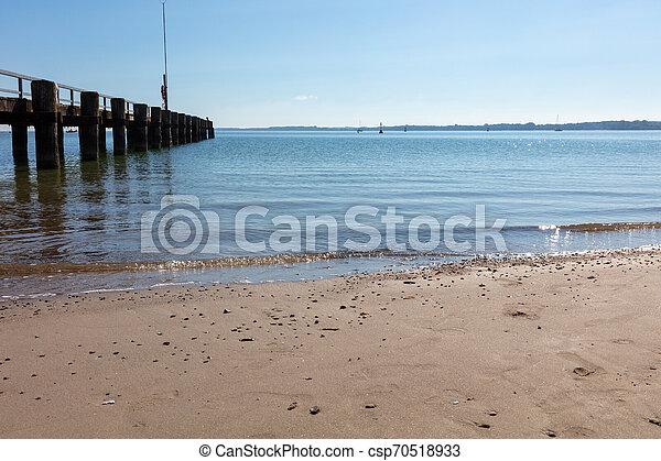 schöne , foto, wetter, sandstrand - csp70518933
