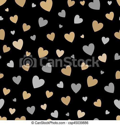 sch ne gold muster seamless hintergrund schwarz herzen silber glitzern sch ne. Black Bedroom Furniture Sets. Home Design Ideas