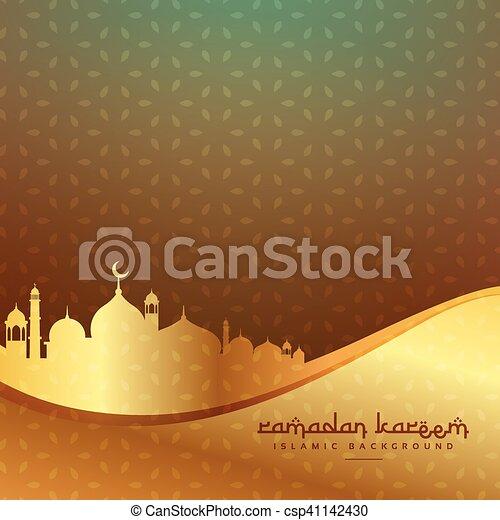 Schöne Goldenes Moschee Hintergrund Islamisch
