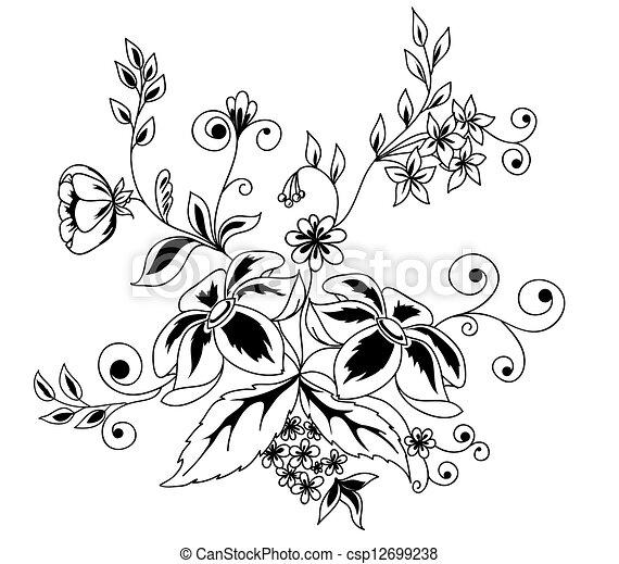 Schöne , guipure, schwarzweiss, element, embroidery.,... Vektoren ...
