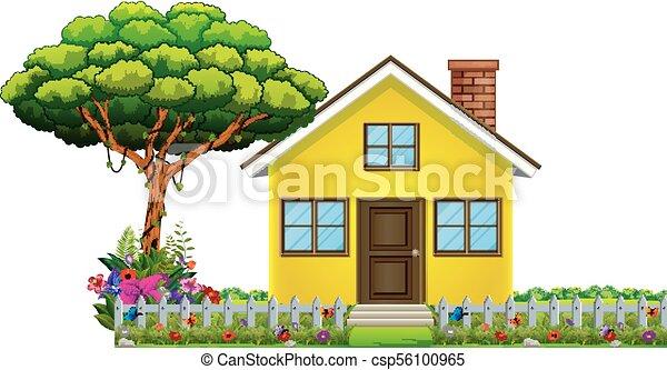Ein Haus in wunderschöner Natur - csp56100965