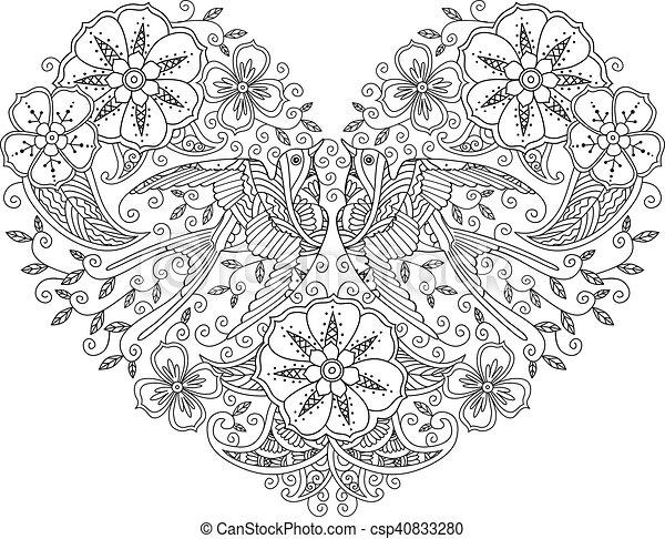 Erfreut Königreich Herzen Färbung Seite Fotos ...