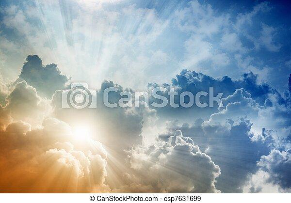 schöne , himmelsgewölbe - csp7631699