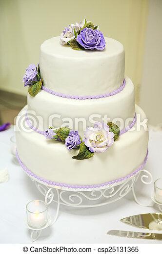 Schone Hochzeit Kuchen Dekoriert Blumen