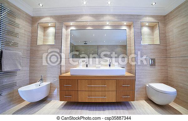 Schöne , inneneinrichtung, badezimmer, luxus, ansicht.