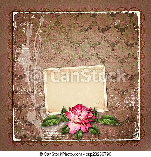 Schöne Invita Glückwünsche Gemalt Rose Rahmen Oder