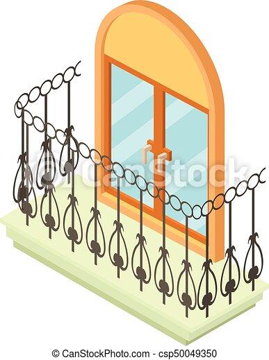 Schone Isometrisch Stil Ikone Balkon 3d Schone Web