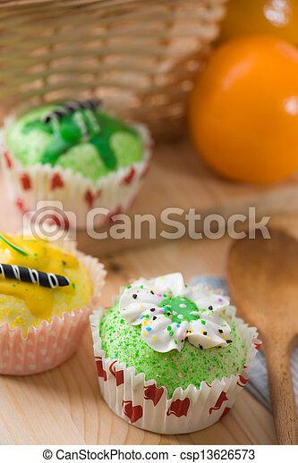 Schone Kuchen Backen Becher Hintergrund Muffins