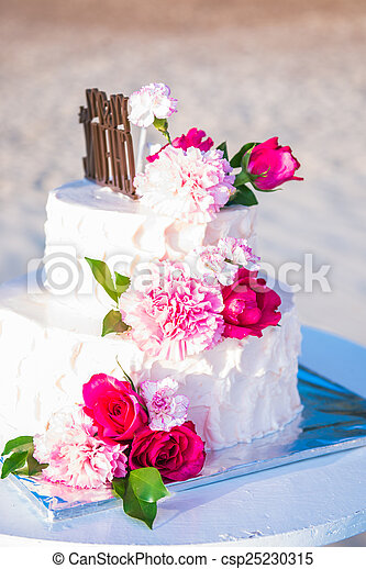 Uberlegen Schöne , Kuchen, Blume, Wedding