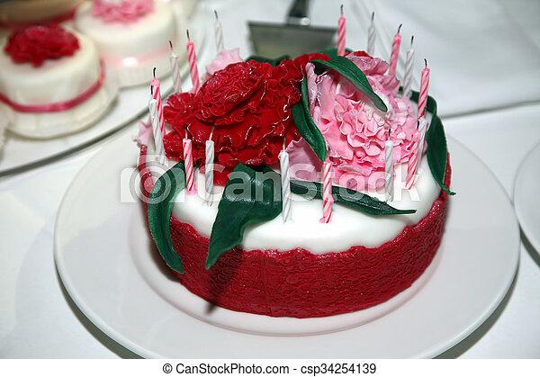 Schöne , Kuchen, Closeup, Wedding