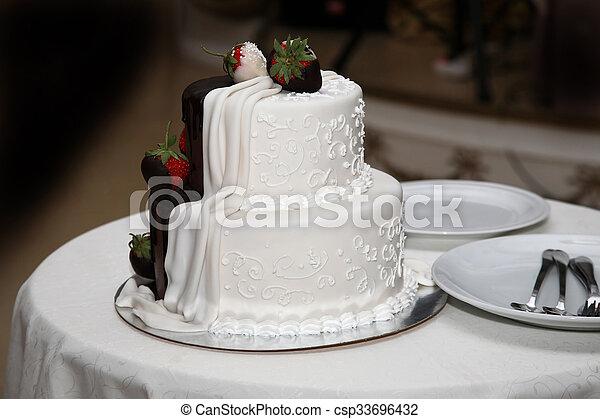 Schon Schöne , Kuchen, Dekoriert, Erdbeeren, Wedding