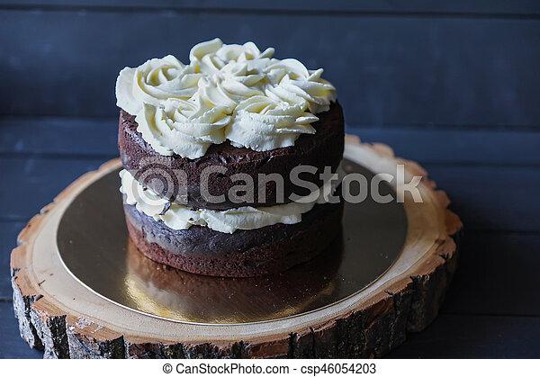 Schöne , Kuchen, Keks, Weißes, Creme   Csp46054203
