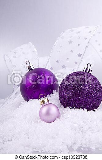 Weihnachtsdeko Lila.Schöne Lila Schnee Weihnachtsdeko Weißes Silber