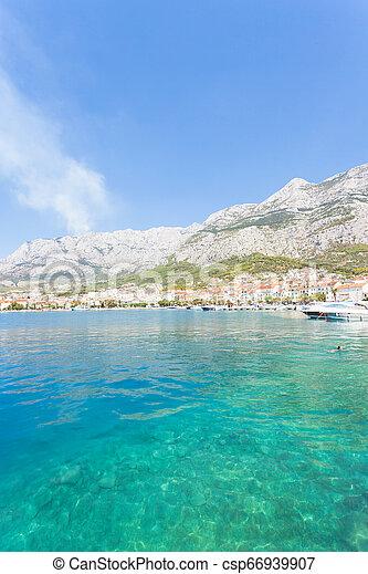 schöne , makarska, makarska, besuchen, -, bucht, kroatien, dalmatien - csp66939907