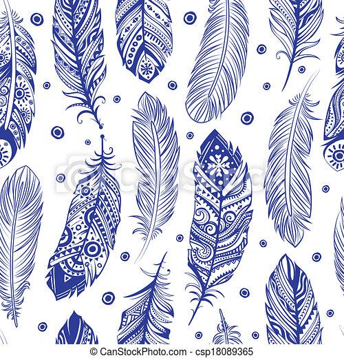 Schöne Zeichnungen schöne muster feder seamless schöne geschaeftswelt