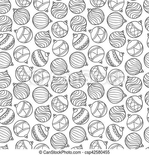 Weihnachten Schwarz Weiß Bilder.Schöne Muster Weihnachten Schwarz Balls Weißes Monochrom