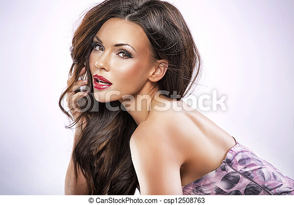 schöne , porträt, weibliche  - csp12508763