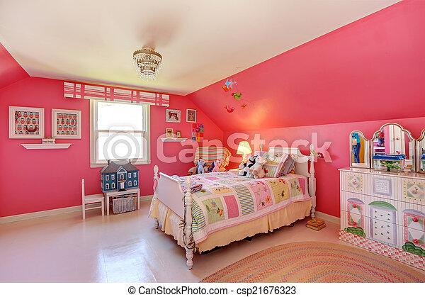 Schöne Rosafarbenes Zimmer Farbe Mädels Hell Schöne