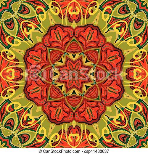 Schone Rug Bunte Muster Ornament Seamless Hintergrund Mandalas Vektor Orientalische Schablone Aufwendig