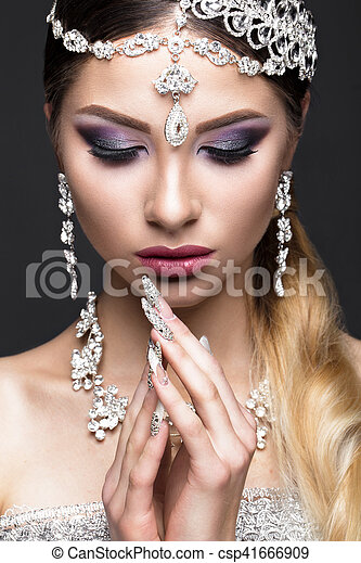 Schone Schmuck Braut Schoenheit Face Manicure Araber Braut