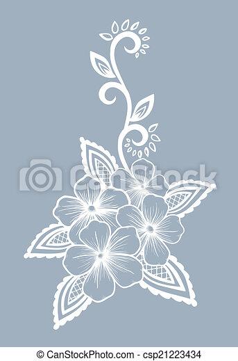 Schöne , schwarzweiss, design, blumen-, blumen, blätter,... Vektoren ...