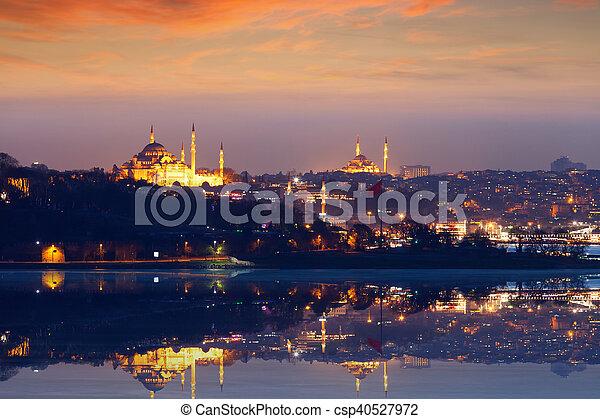 schöne , türkei, abend, istanbul