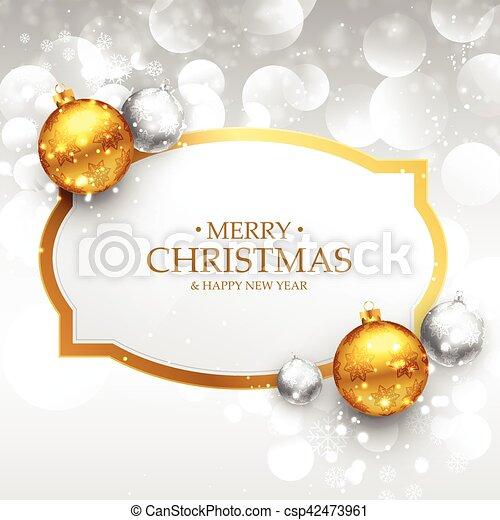 Bilder Schöne Weihnachten.Schöne Weihnachten Kugeln Gold Gruß Weihnachten Realistisch Design Fröhlich Silber