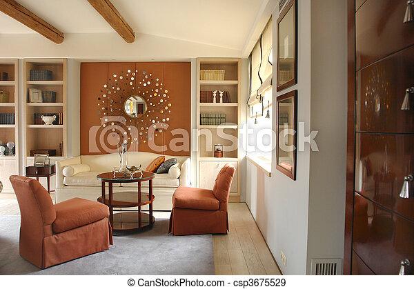 Schöne , Wohnzimmer, Spiegel