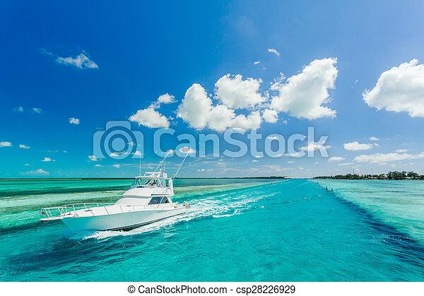 schöne , yacht, meer - csp28226929