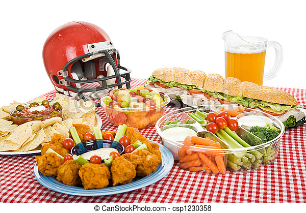 Super Bowl Party Essen - csp1230358