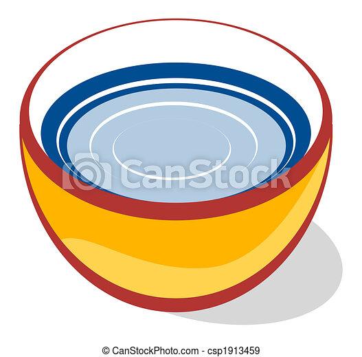 Schüssel clipart  Stock Illustration von schüssel - ow, wasser, schüssel csp1913459 ...