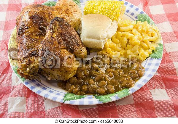 schaaltje, chicken, bbq - csp5640033