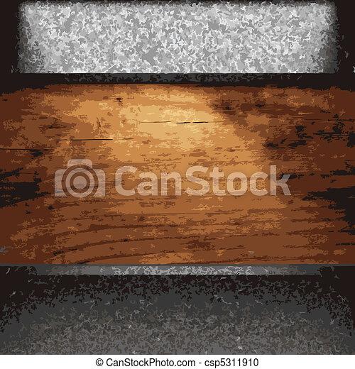schaaltje, hout, ijzer - csp5311910