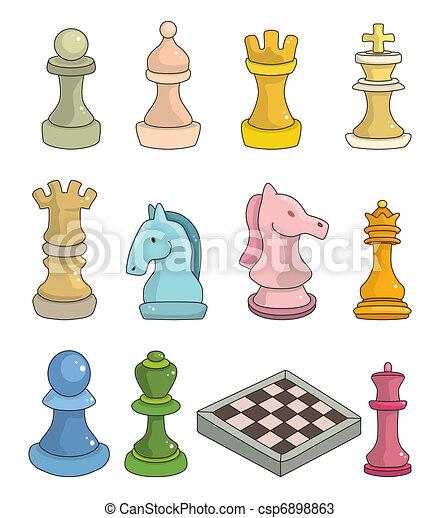 Kartoon-Schach isoliert - csp6898863