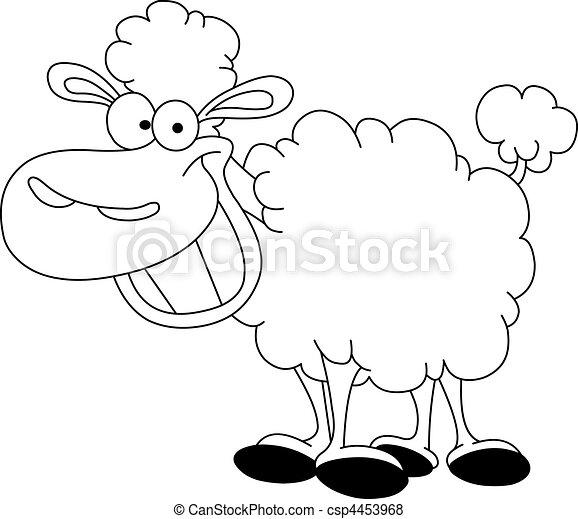 Schafe, umrissen Vektor - Suche Clipart, Illustration, Zeichnung ...