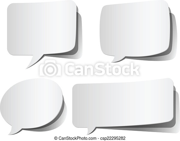 Weiße Redeblasen - csp22295282