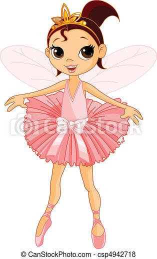 schattig, elfje, ballerina - csp4942718