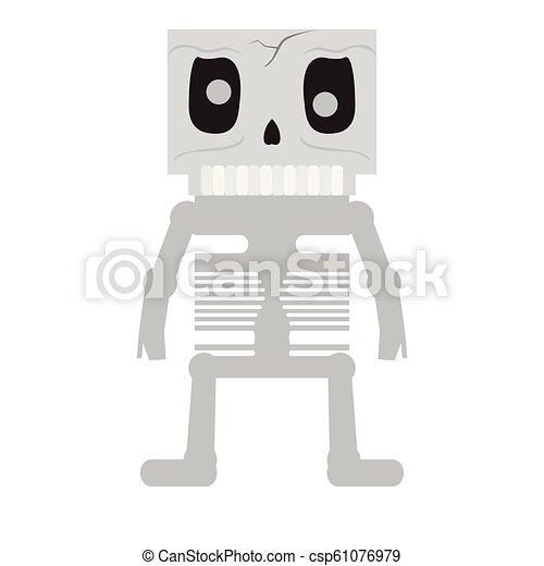 Skelet Voor Halloween.Schattig Halloween Karakter Skelet Spotprent