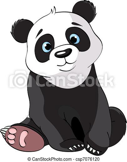 Zeer Schattig Panda Zittende