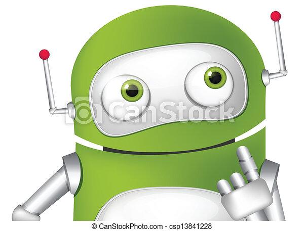 schattig, robot - csp13841228