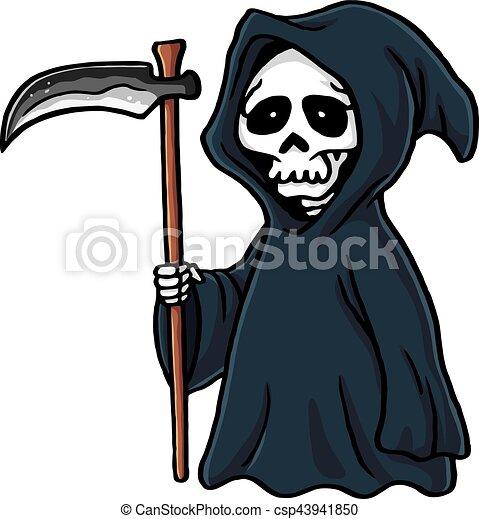 Skelet Voor Halloween.Schattig Skelet Halloween Illustratie Maaimachine Vector Spotprent Akelig