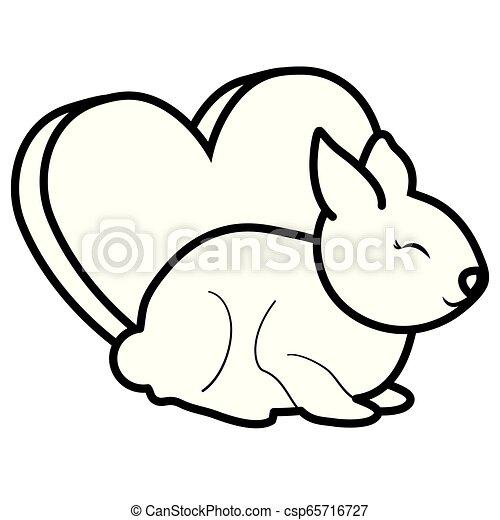 schattig, weinig; niet zo(veel), liefde, konijn, hart - csp65716727