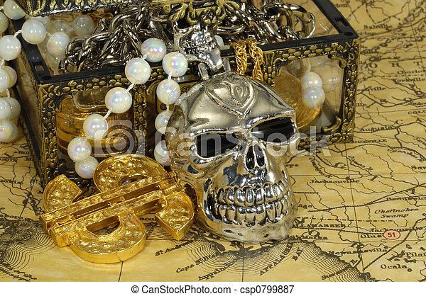 Piratenschatz - csp0799887
